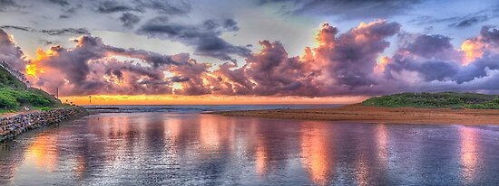 Painted Sky - Narrabeen Lakes, Narrabeen - The HDR Experience by Philip Johnson