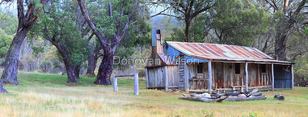 Old Gold. Oldfields Hut by Donovan Wilson