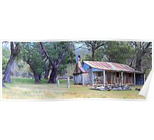 Old Gold. Oldfields Hut Poster