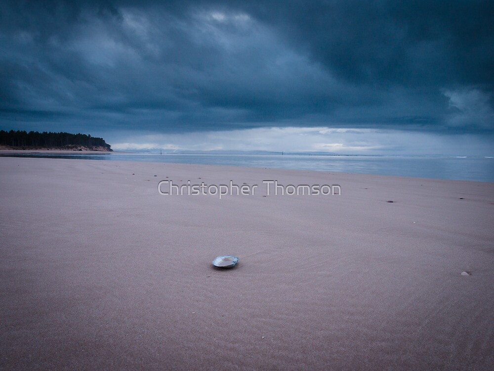 Lonesome Shell at Findhorn Beach by Christopher Thomson