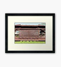 Old Steel Construction Framed Print
