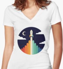 Up Women's Fitted V-Neck T-Shirt