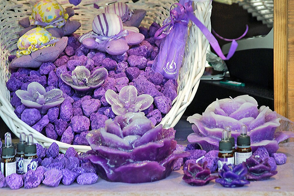 Basket full of lavender products by Arie Koene