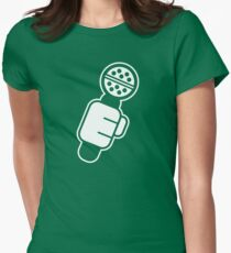 Microphone Check Womens Fitted T-Shirt