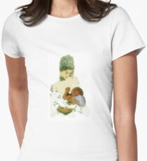 White Madonna Womens Fitted T-Shirt