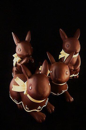 Chocolate Bunnies by Barbara Morrison