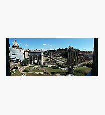 Panoramic View of Rome Forum and the Entire Ancient City Photographic Print