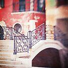 Venice in Red, Venetian Bridge by Maggy Morrissey
