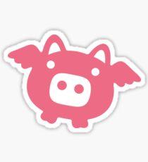 Flying Pink Pig Sticker