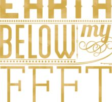 Mumford Typography (earth)(gold) Sticker