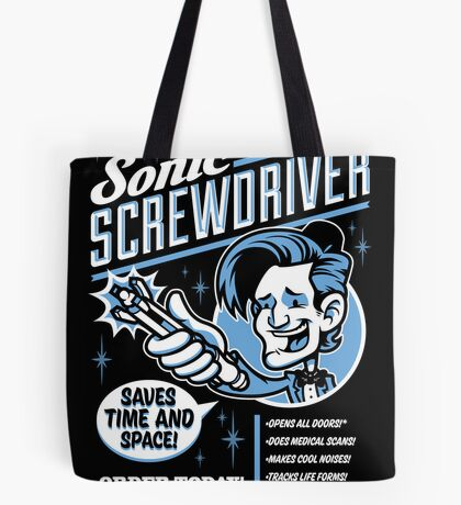 Sonic Screwdriver Ad Tote Bag