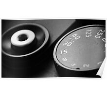 Leica M6TTL Shutter speed dial, and shutter release Poster
