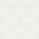 Cream and White Damask by cinn