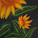 Golden Sunflowers by Guy Wann