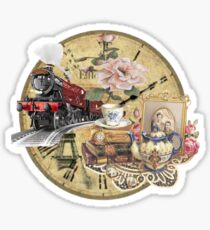 old-timey tea time Sticker