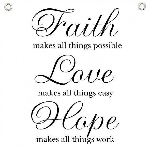 Faith, Love, Hope by Gloria  Urrego