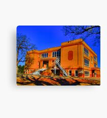 Abandoned Elementary School - Sherman, Texas, USA Canvas Print