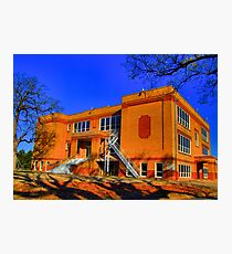 Abandoned Elementary School - Sherman, Texas, USA Photographic Print