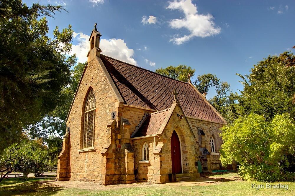 Church In Bungendore NSW Australia  by Kym Bradley