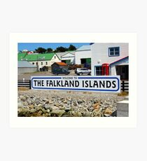 Welcome to the Falkland Islands Art Print