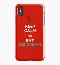 Keep Calm Eat Ice Cream iPhone Case/Skin