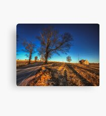 Along Hayfield Road March 2013 Canvas Print