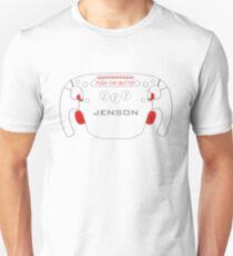 Push the - Jenson - Button (white) T-Shirt