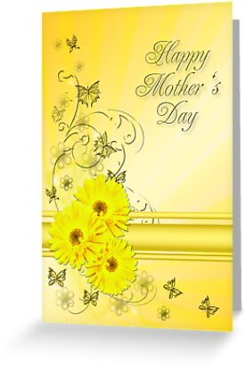 Mothers day card with daisies by Norma Cornes