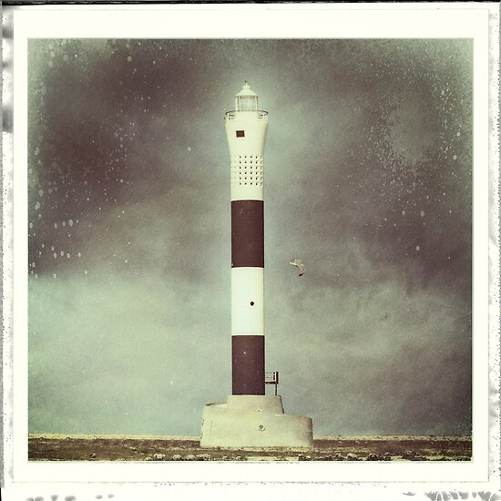 Dungeness 'New' Lighthouse by Nikki Smith (Brown)