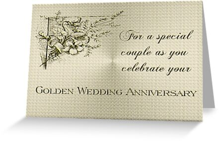 Golden Wedding Anniversary Card by Vickie Emms