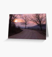 Mauve Sunset Greeting Card