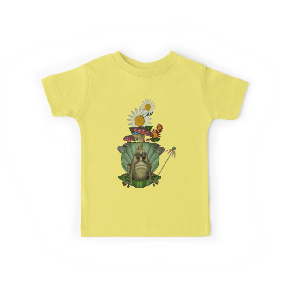 Cute Green Frog Princess Clam Shell Throne by SmilinEyes