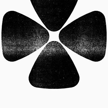 Four Leaf Clover - Black by RetroLogos