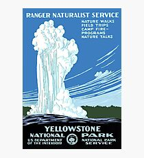 Vintage Travel Poster: Yellowstone National Park Photographic Print