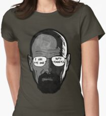 Walter White knocks  Women's Fitted T-Shirt