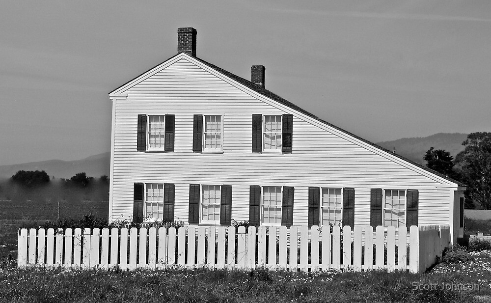 Green & White Johnston House Near the Ocean by Scott Johnson