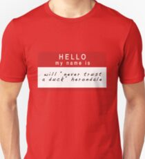The Infernal Devices: Will's Name (Ver 1) Unisex T-Shirt