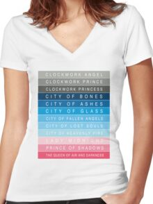 Cassandra Clare: Titles Women's Fitted V-Neck T-Shirt