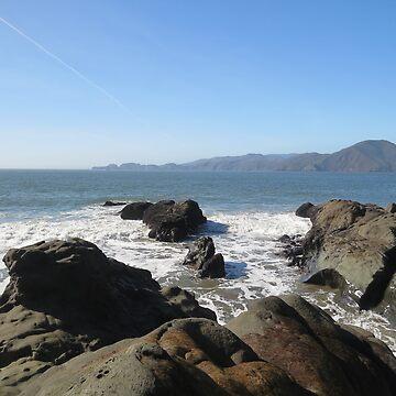 Golden gate water rocks by mindfu