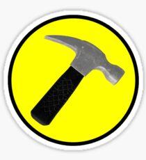Captain Hammer Logo  Sticker