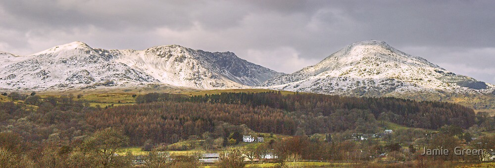 Dow Crag And The Old Man by Jamie  Green