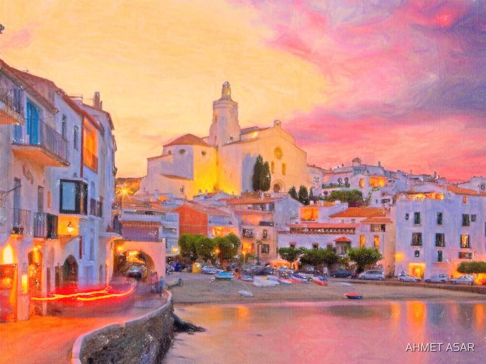 costa brava spain pastel by MotionAge Media