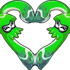 Squid Love - Pure Green by LuAnne Boudier