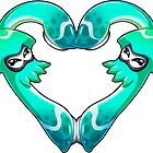 Squid Love - Pure Turquoise by LuAnne Boudier