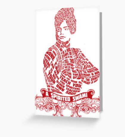 A spirited swami- Vivekananda Greeting Card