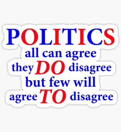 agree to disagree Sticker