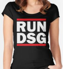 RUN DSG Graphic Women's Fitted Scoop T-Shirt