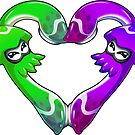 Squid Love - Green x Purple by LuAnne Boudier