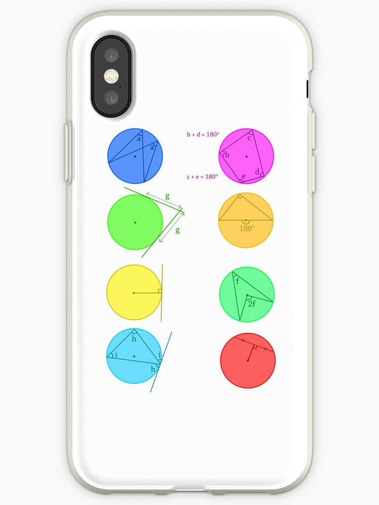 'Circle Theorems' iPhone Case by Koolkati3