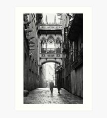 Barri Gotic, Barcelona Art Print